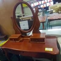 엔틱화장대+의자(브라운)